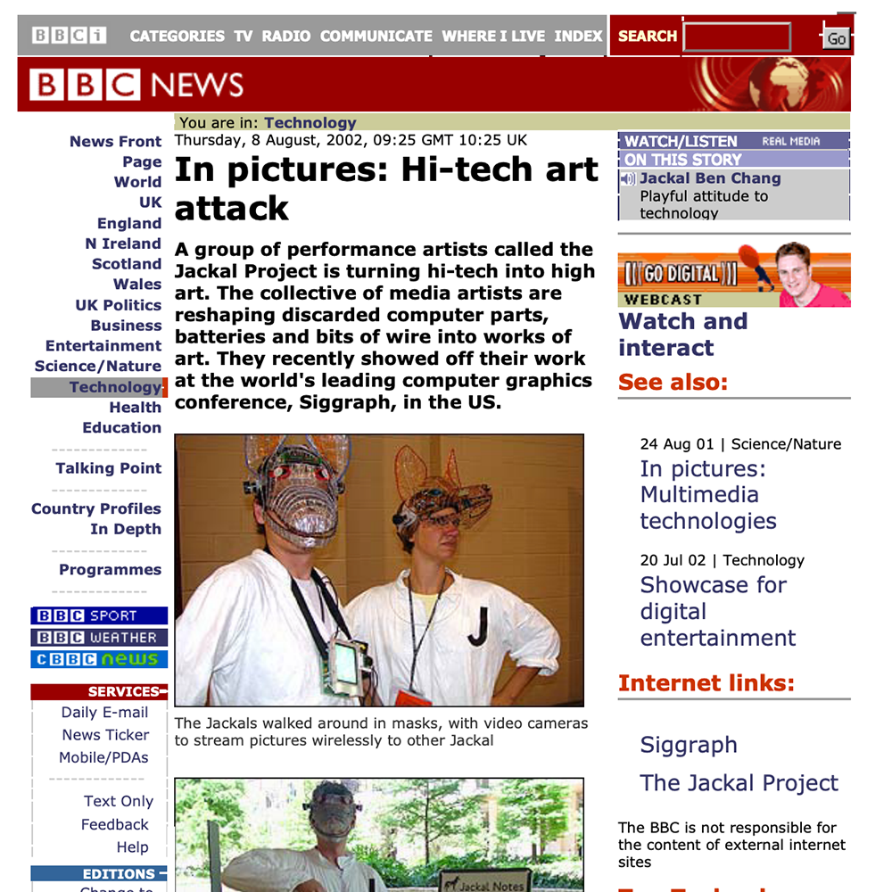 BBC News: Hi-tech art attack