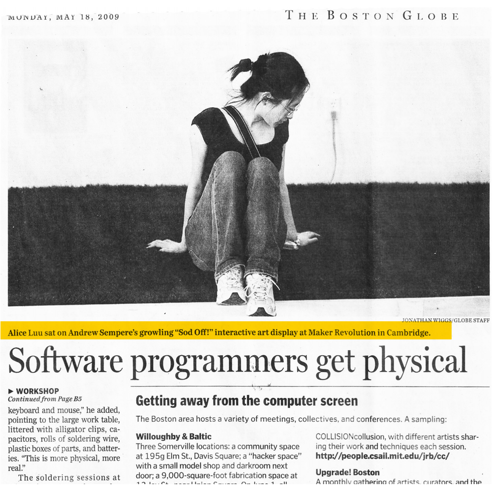 Boston Globe: Software Programmers Get Physical